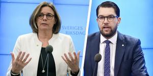 Isabella Lövin (MP) och Jimmie Åkesson (SD).