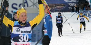 Långloppsåkaren Lina Korsgren fick bara se sig slagen av två åkare i Supersprintpremiären i Östersund. Bild: Niclas Åkerström.