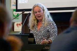Maria Lind är Socialdemokraternas gruppledare i fullmäktige i Söderhamn.