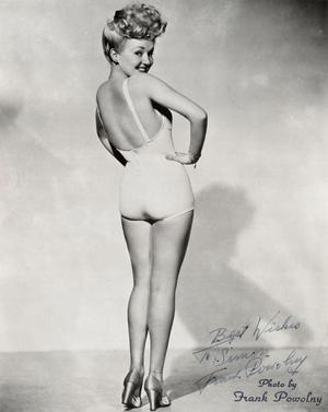 Betty Grable berömda pinuppbild från 1943. Foto: Frank Powolny