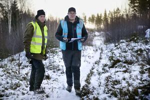 Insatsledare är Sebastian Lindström och David Olofsson som ställde upp som frivillig sökare.
