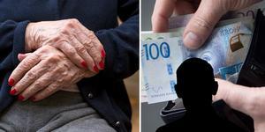 Den äldre kvinnan i Borlänge blev av med två plånböcker med kontanter. Mannen utgav sig för att komma från hemtjänsten. Bilden är ett montage.