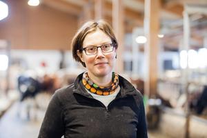 Valfriheten påverkas inte särskilt mycket i och med samgåendet menar Kajsa Pettersson som varit Arla-bonde i sex år sedan Arla köpte upp Milko.