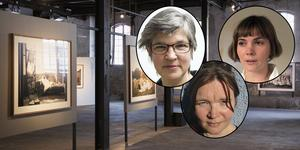 Katarina Jönsson Norling,  Linda Marie Karlsson och Matilda Haritz Svenson vill att dalapolitikerna ska satsa på konsten.