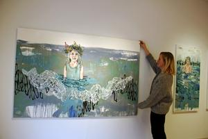 Den här målningen är en av Anna-Karin Boos senaste målningar. Den heter