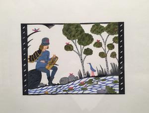 """""""Harpans kraft IV"""", en illustration av en gammal folksägen."""