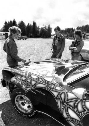 Olle Olssons fint lackade Chevrolet El Camino.
