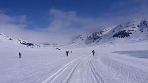 Foto från skidspåret mot Viterskalstugan. Foto: Jan Lindmark