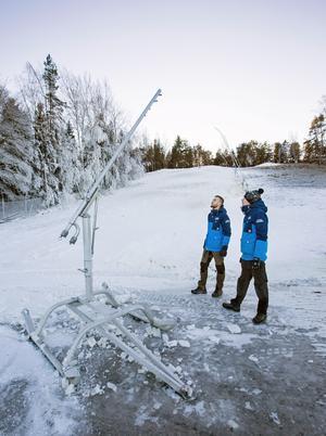 Än ligger snö i Sörbybacken, men så fort den gått bort kommer det anläggas en rallyväg uppför slalombacken. Arkivfoto