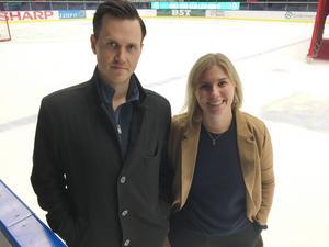 Jacob Sjölin och Anna Svedberg bevakar SSK från insidan den här säsongen.
