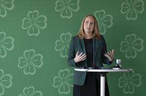 Centerpartiets partiledare Annie Lööf talar sig varm för marknadslösningar.