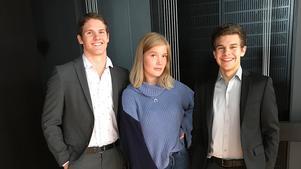 Från vänster: Owe Dvärby, Vilma Andersson, Alexander Dahlin.(Foto: Privat)
