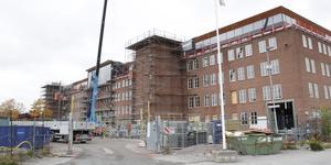 Huset i korsningen Björnövägen - Kungsängsgatan ska rymma kontor för bland andra Mälarenergi och Mimer.