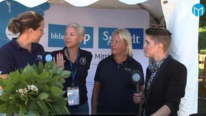 Strömsholms vd Kristina Rosell (tvåa från höger) intervjuades i  Mittmedias livesändning från Strömsholmsdagarna.