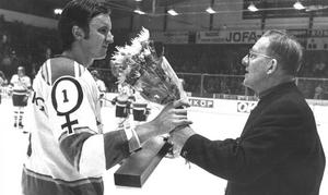 Göran Högosta blev utsedd till VM:s bästa målvakt 1977. Foto: DD:s Fotoarkiv