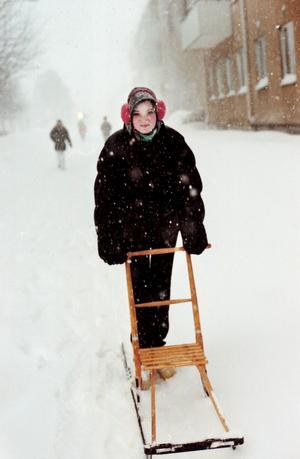 Cathrine Norén 13 år tog sparken från Sätra ned på stan med en kompis.