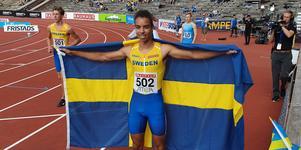 Zion Eriksson tangerade sin näst snabbade tid någonsin när han vann 100 meter på ungdomsfinnkampen.