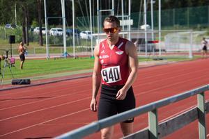 Norkse Christian Marthinussen förberedde sig för start.