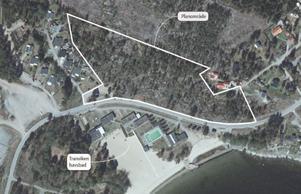 I det inringade området planeras det för cirka sju tomter.