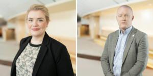 Cassandra Sundin (SD) och Jonas Andersson (SD).