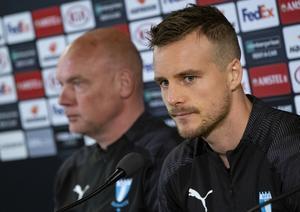 Uwe Rösler och Eric Larsson. Bild: Johan Nilsson / TT