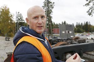 Andreas Lindstedt är brandman i Norrtälje och ingår i övningsledningen.