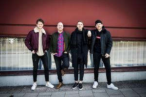 Från vänster: Eric Ljusner, Jonah Hallberg, Markus Asplund och Simon Eriksson.