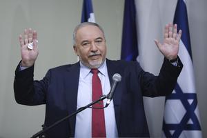 Yisrael Beiteinus (Vårt hem Israels) partiledare Avigdor Lieberman. Foto: AP Photo/Oded Balilty.