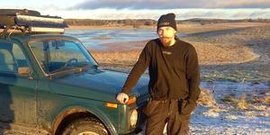 Lite förvånad och besviken blev Peter Yngvesson när han inte fick ha texten BLIN på sin bil.