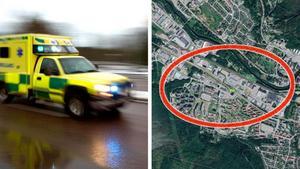 Räddningstjänst, ambulans och polis kallades till E14 i Nacksta efter att en man i 35-årsåldern blivit påkörd. Bilder: Arkiv och Google.com/maps