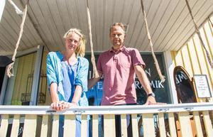 Thomas Eklund och Malin Arefjärd Eklund har drivit glasskaféet i Växbo under fyra säsonger.