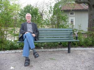 Stig Andersson är aktuell med den nya romanen Myrgöreln. Foto: Arbetarbladet