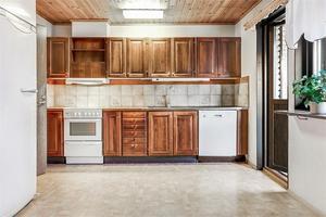 Köket i mest klickade huset. Foto: Fastighetsbyrån.