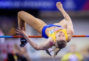 Erika Kinsey ställde upp i dubbla grenar under Finnkampen. Foto: Erik Simander / TT