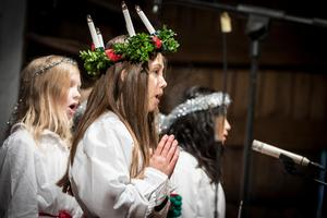 Joline Andersson var lucia från kulturskolan. Foto: Lennye Osbeck