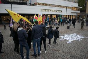 Manifestation i Borlänge centrum.