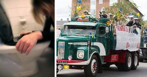 Flera NTI-elever i Umeå blev matförgiftade natten mot examensdagen. Bilden på studentflaket är tagen vid ett annat tillfälle. Bild: Fredrik Sandberg/TT