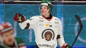 Victor Olofsson fortsätter att vara glödhet i SHL. I kväll stod han för två nya mål i 3–1-segern mot Mora. Bild: Ulf Palm/ TT.
