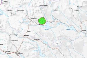 Området där det dyrbara palladiumet finns ligger strax norr om Storsjö kapell i Bergs kommun. Karta: SGU