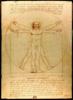 Leonardo da Vincis berömda teckning