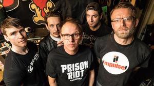 No Fun At All. Från vänster: Kjell Ramstedt, Fredrik Eriksson, Ingemar Jansson, Stefan Bratt och Mikael Danielsson.                                                                                                       Foto: Jon Alexandersson.