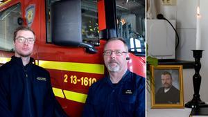 Lennart Håkansson och Mikael Olofsson sörjer sin kollega Jan-Ove Berg som så tragiskt förolyckades förra veckan.