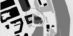 Kartan visar hotellbyggnadens tänkta placering.