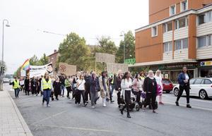 Från demonstrationen i lördags.