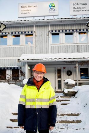 Katarina Levin, sågverkschef, Tunadals sågverk.