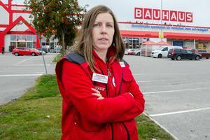 Kamilla Berglin är ställföreträdande varuhuschef på Bauhaus i Sundsvall.