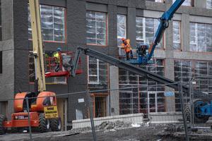 Byggarbetsplats i Midsommarkransen. Foto: Helena Landstedt / TT