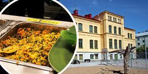 På Stureskolan väntar man på att ombyggnaden av matsalen i Vesslan, rakt över gatan, ska bli klar. Det drar dock ut på tiden.