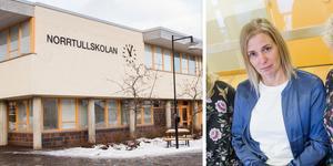 Montage. Åsa Jääger är rektor för högstadiet på Norrtullskolan i Söderhamn.