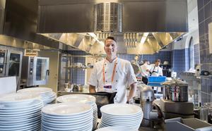 Daniel Södergren säger att U23-EM är det största arrangemang som restauragen på Gasklockorna haft.